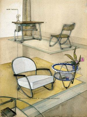 Kem Weber - Steel Furniture for Lloyd Manufacturing Company (1934)