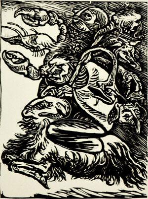 Ernst Barlach - Urian Riding from Goethe