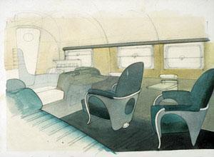 Kem Weber Airline Cabin Interior