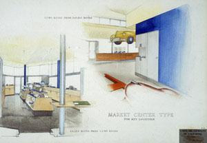 Kem Weber - Market Center Prototype for Union Oil