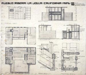 Rudolph Michael Schindler - Puebla Ribera Court, LaJolla, CA (1923-1925)